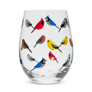 Bird Stemless Wine Glass