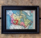 Embroirdered Alberta Map