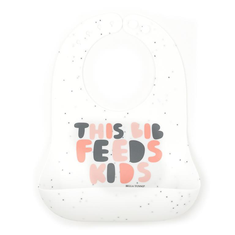 This Bib Feeds Kids Pink