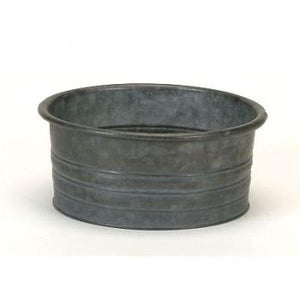 Small Round Aluminum Planter