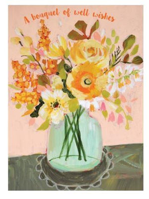 A Bouquet of Well Wishes - Card