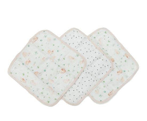 Washcloths Set of 3 - Bunny Meadow