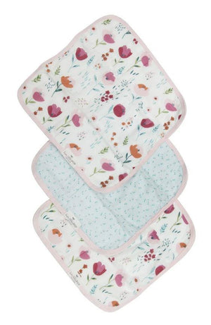 Washcloths Set of 3 - Rosey Bloom