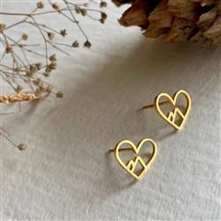 Heart of the Mountains Gold Earrings