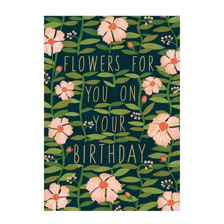 Flowers for You on Your Birthday - Card