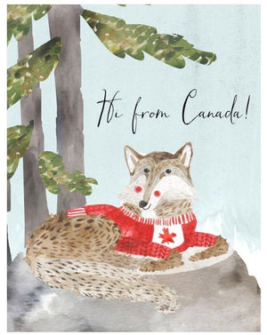 Hi From Canada - Card