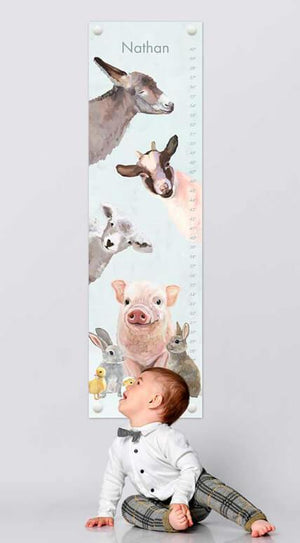 Spring Animal Babies Growth Chart