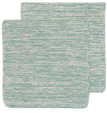 Lagoon Blue Knit Dish Cloths