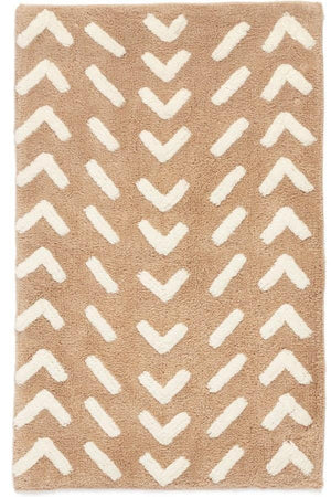 Chevron Beige Bath Mat