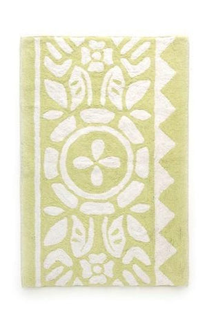 Floral Green Bath Mat