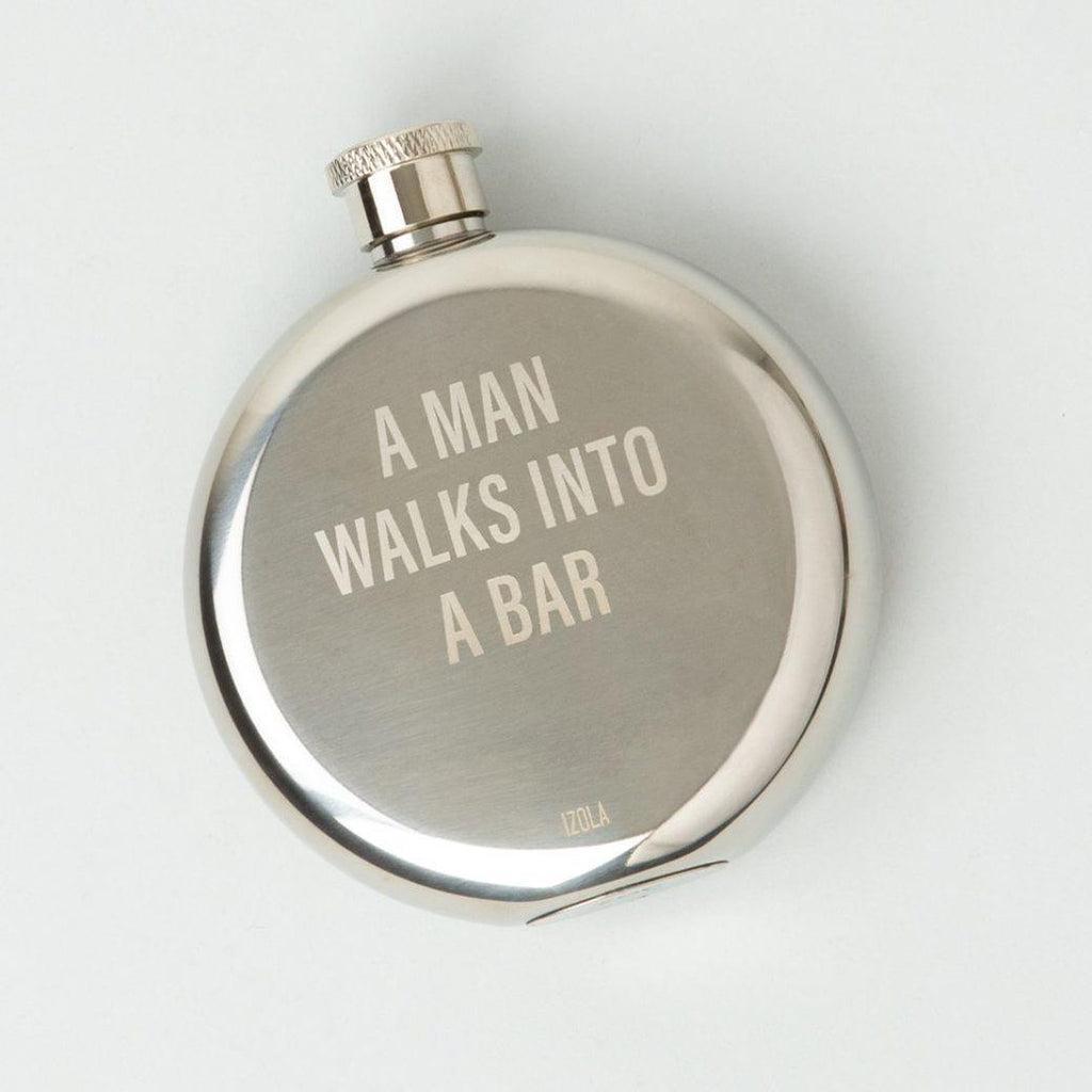 A Man Walks into a Bar Flask