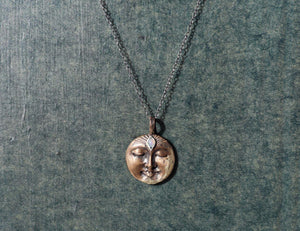Opal Bronze Moon Necklace