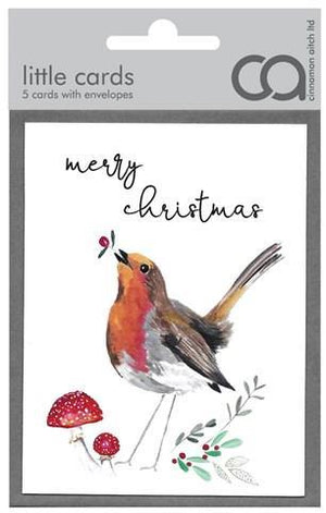 Merry Christmas Robin Notecards