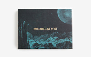 Untranslatable Words Card Deck