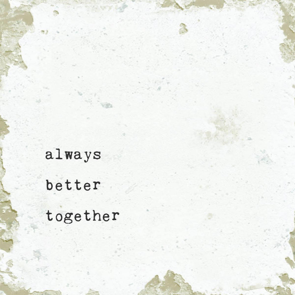 Always Better Together Marble Coaster