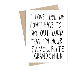 Favourite Grandchild Card