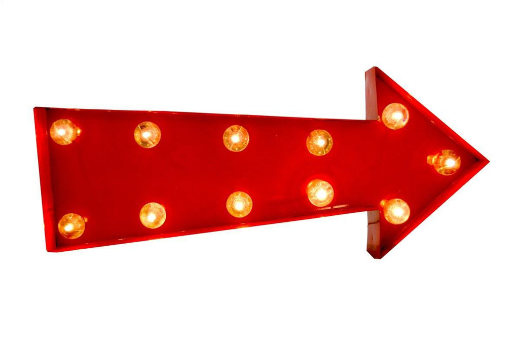 Light Up Red Arrow Wall Decor