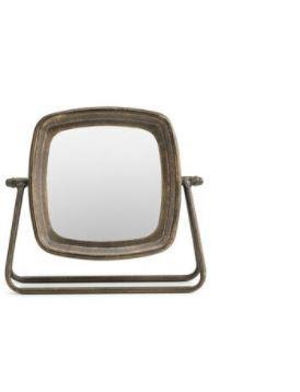 Tabletop Rustic Iron Mirror