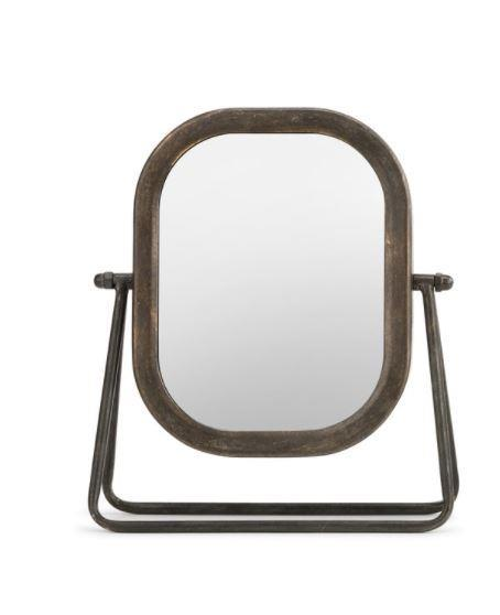 Table Top Rustic Metal Mirror