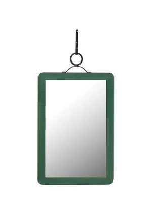 Green Wooden Mirror