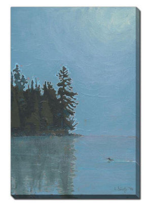 The Loon Canisbay Lake - 22x28 Canvas Print