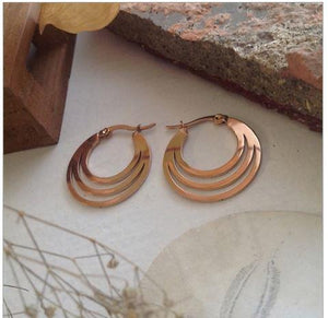 Zaha Rose Gold Hoop Earrings