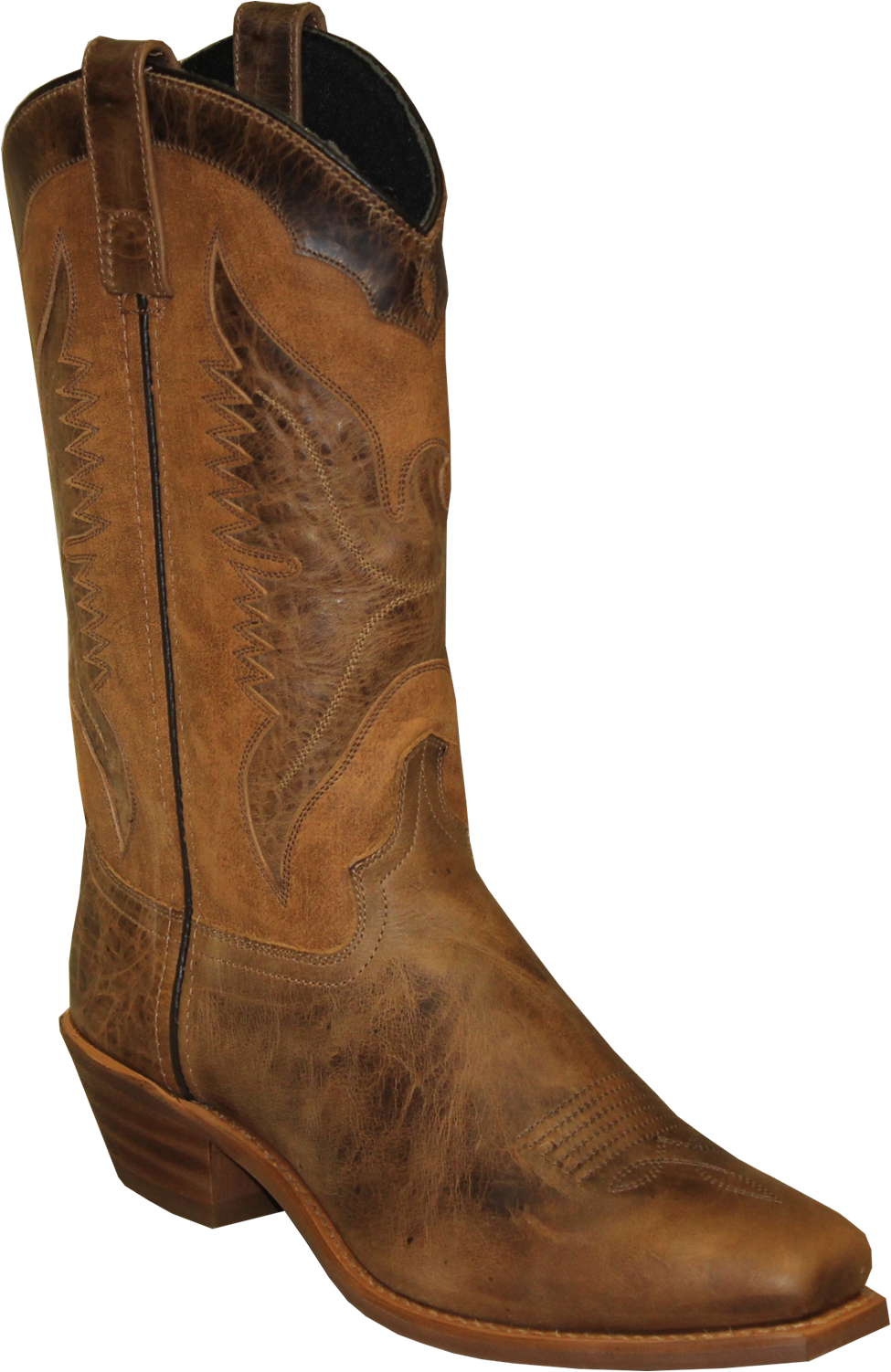 "Women's Sage by 11"" Eagle Underlay Western Boot Square Toe Brown 8.5 M"