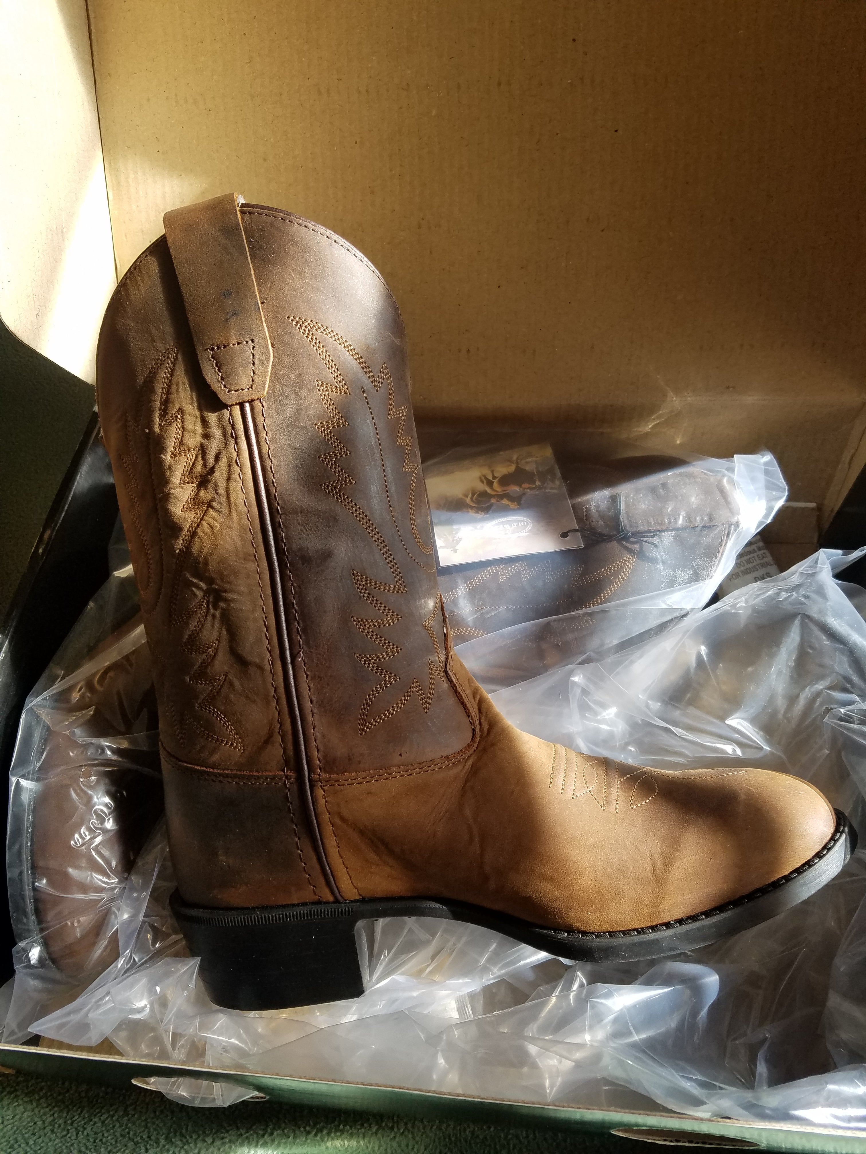 6bab90ccc3b25 Old West Kids Western Boots Brown Item OW-1109