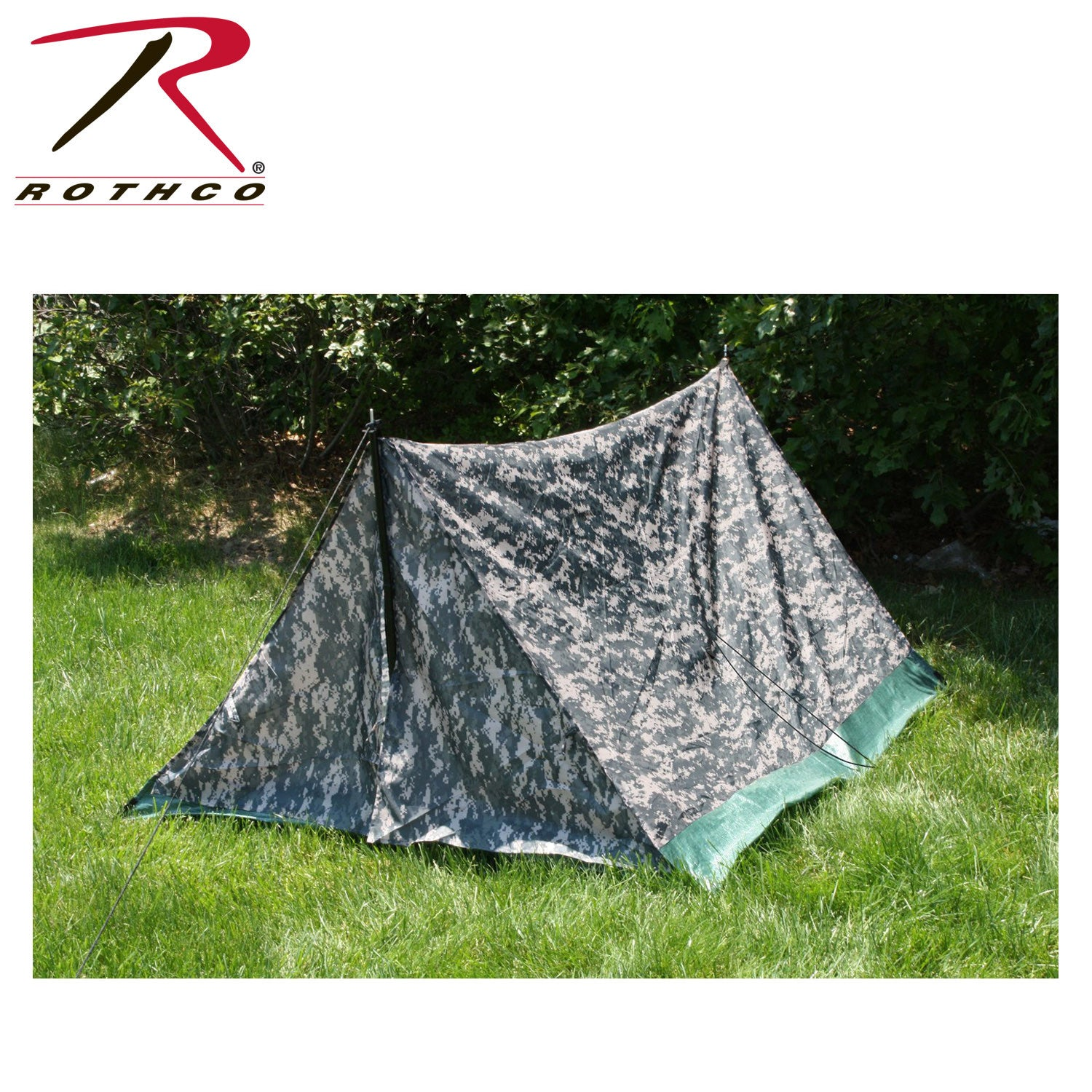 Camouflage Trail Tente Woodland Camouflage 2 personne Rothco 3808