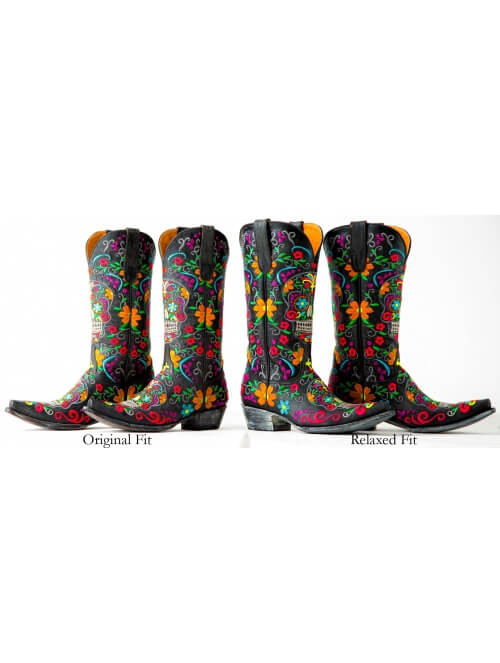 0179b35f3e8 Old Gringo Relaxed Fit Sugar Skull Ladies Boots - Item L1300-1RF