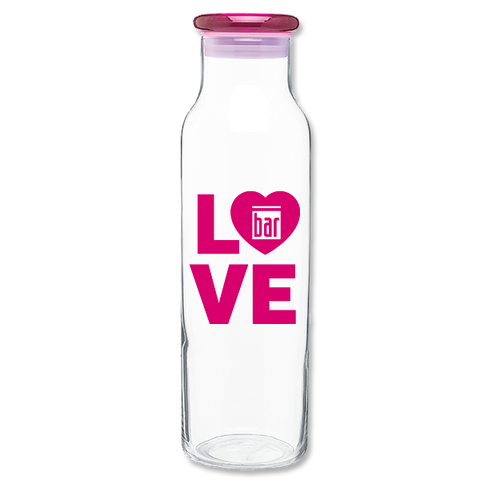 Bar Method - H2go Glass Water Bottle - Bar Love