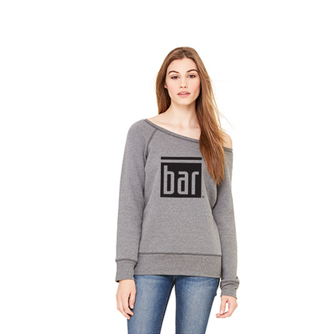 Bar Method - Dancer Sweatshirt Deep Heather - Oversize BAR Logo