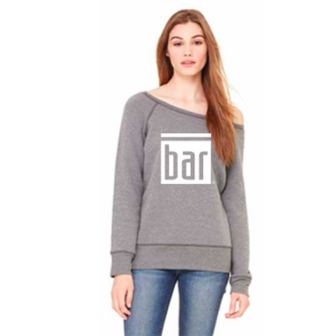 Bar Method - Dancer Sweatshirt Grey - Oversize BAR Logo