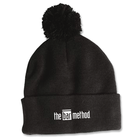 Bar Method - Pom-Pom Knit Cap - Logo