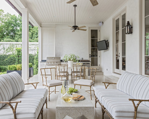 Outdoor Patio Space for Entertaining Designed by Colleen Waguespack