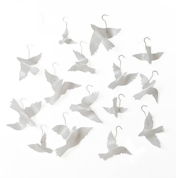 Set of 15 Small Dove Christmas Ornaments