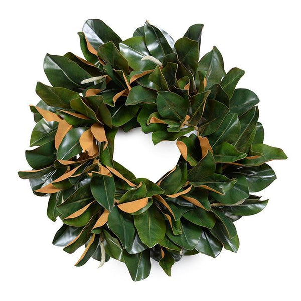 "22"" Faux Magnolia Wreath"