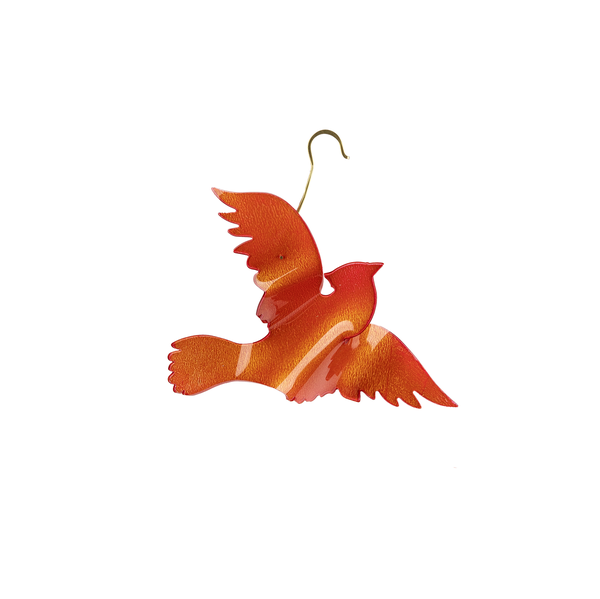 Acrylic Cardinal Christmas Ornament
