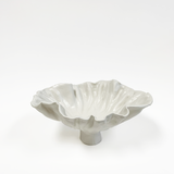 White ceramic footed bowl