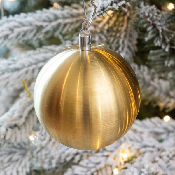 Brushed Gold Metal Ornaments