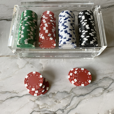 Acrylic Poker Chip Set