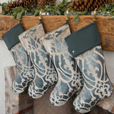 Fig & Dove Velvet Hand-Painted Christmas Stockings