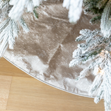 Silver Grain Christmas Tree Skirt