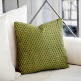 Square Fortuny Green Accent Pillow