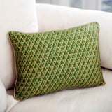 Rectangle Fortuny Green Accent Pillow
