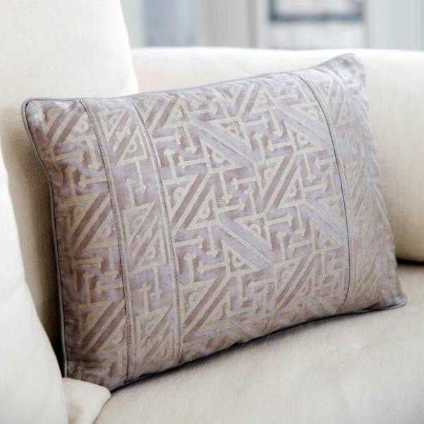 Rectangle Gray Accent Pillow