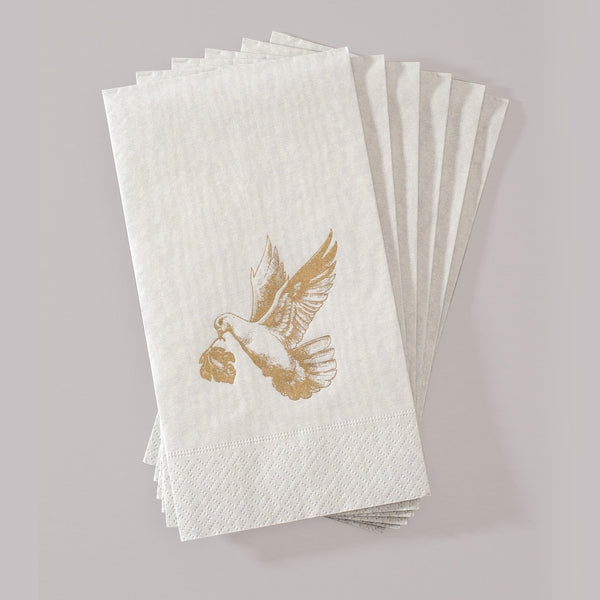 Gray Hand Towels with Golden Dove by Alexa Pulitzer