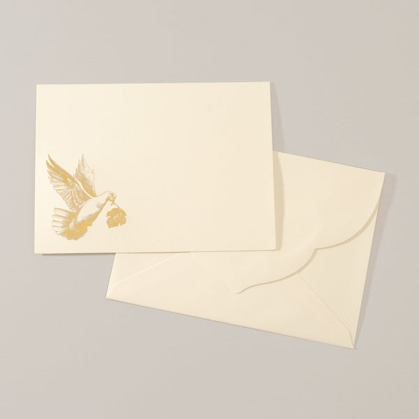 Alexa Pulitzer Notecard and Envelope Set with Golden Dove