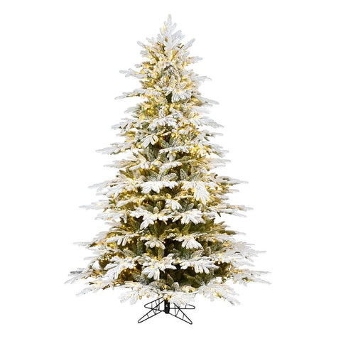 Designer Flocked Christmas Tree
