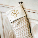 Monogrammed Fortuny Christmas Stocking